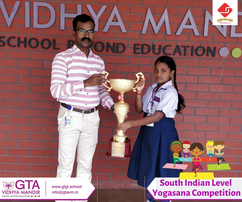 South Indian Level Yogasana Competition Varsitha  J of class