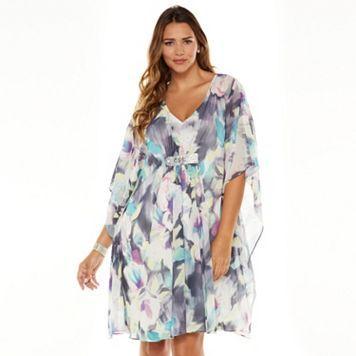 Jennifer Lopez Fl Embellished Caftan Dress Women S Plus Size