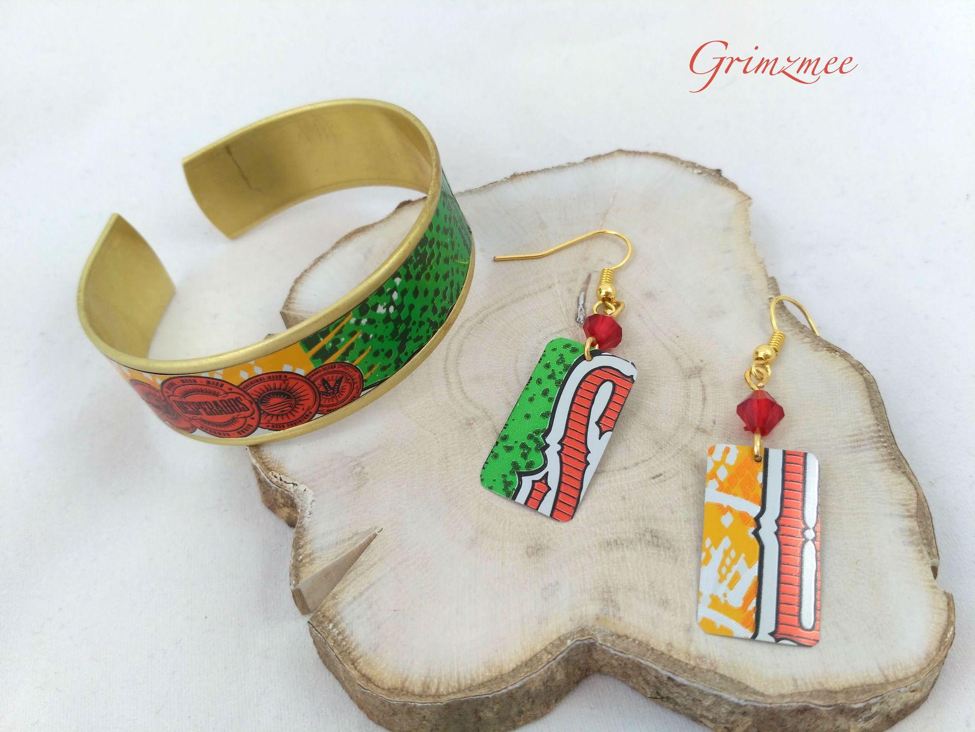 Bracelet Manchette En Cannette De Desperados Bracelet Manchette Creation Bijoux Bijoux