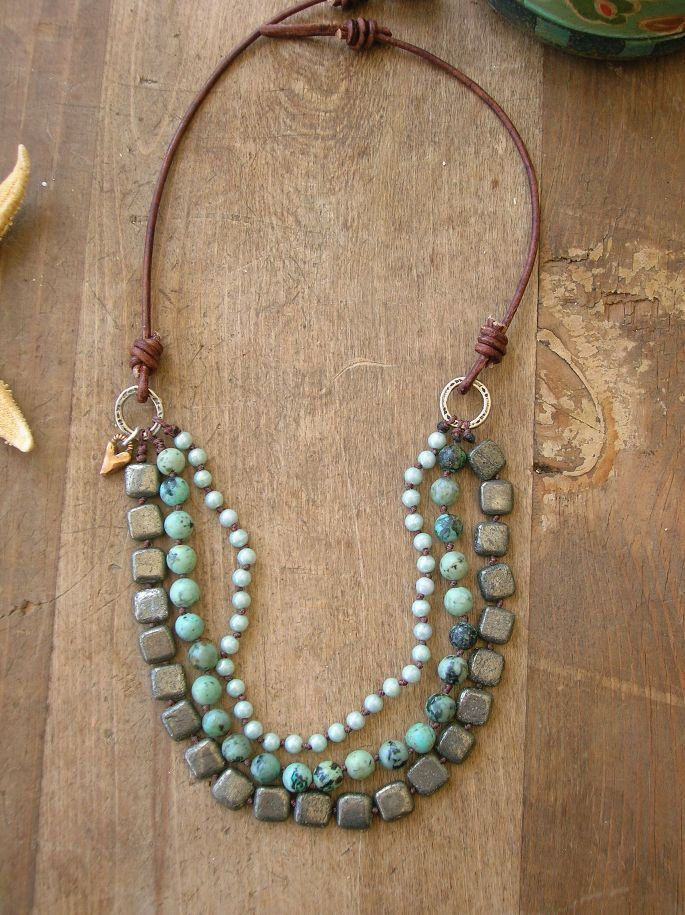 Bohemian Statement Necklace Turquoise Necklace Multi