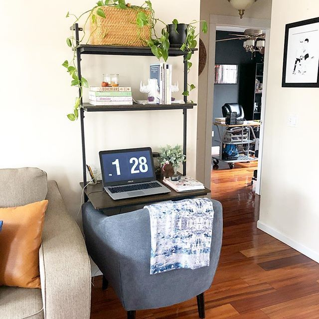 Office nook wall desk in living room