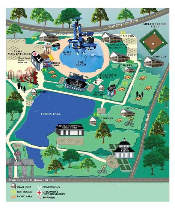 Clayton County Parks And Recreation International Park Beach