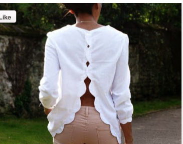 scalloped back top