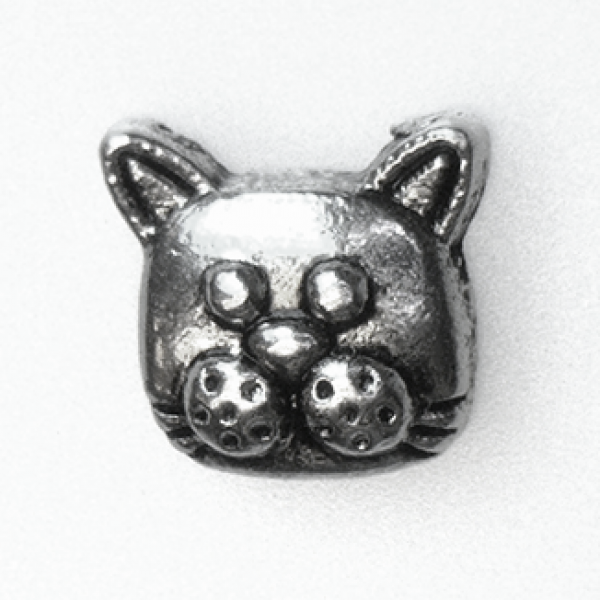 Cat Face Floating Locket Charm at showyourcharm.com This silver colored cat's face jewelry charm is just one of the great pet related items available to create your story in a locket.
