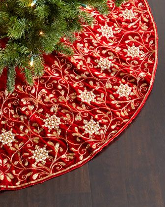 Velvet Christmas Tree Skirt By Sudha Pennathur At