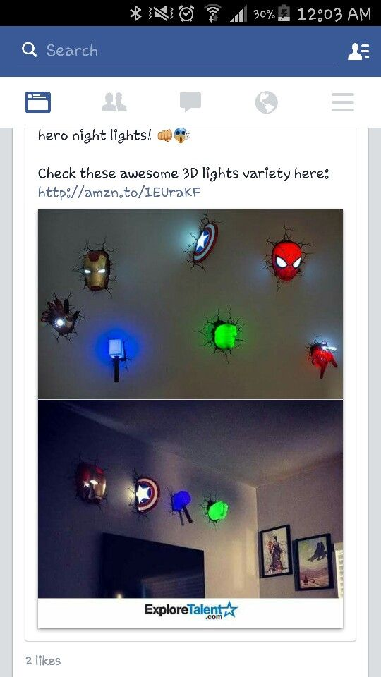 Avengers Room Ideas Boy Bedrooms Night Lights