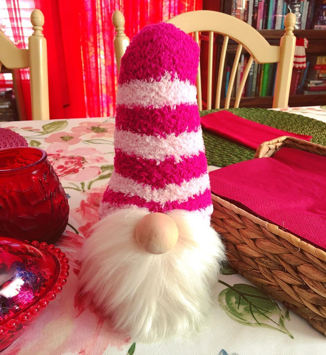 Table gnome I made yesterday - Table gnome I made yesterday ?? #loveysgnomes #gnomes #sockgnomes #loveyscrafts #craft #valentines #funcraft #supereasy #craftmom #tabledecoration #tablegnome #socks #stuffing #rice #woodennose #blush #dodads #myway #makeityourown #fauxfur #handmade #madebyhand #handmade #loveysgnomes #gnomesofinstagram     You are in the right place about cheap Crafts iDeas      Here we offer you the most beautiful pictures about the  waste material Crafts iDeas  you are looking