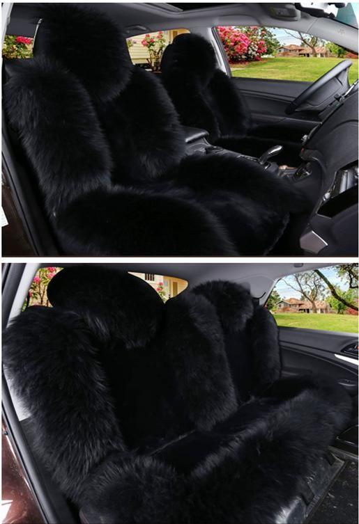 Sheep Skin Car Seat Cushion Winter Warm Universal Woolen Fur Car Seats Cover Purple Beige Re Girly Car Accessories Leather Car Seat Covers Cute Car Accessories
