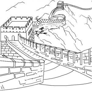 great wall of china printable coloring pages | Pin by Beijing Tour Guide on Great Wall | Easy drawings ...