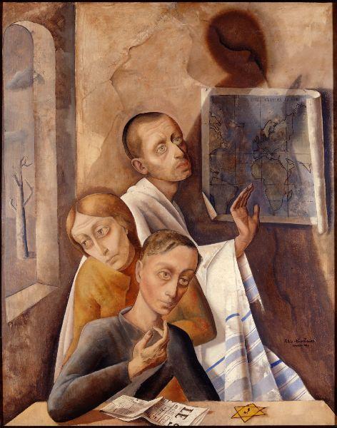 Três retratos, 1944 Felix Nussbaum (Alemanha, 1907-1944) óleo sobre tela, 100 x 80 cm