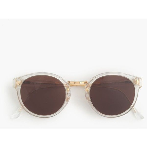 J.Crew Super Retro Sunglasses With Clear Frame ($365) ❤ liked on ...