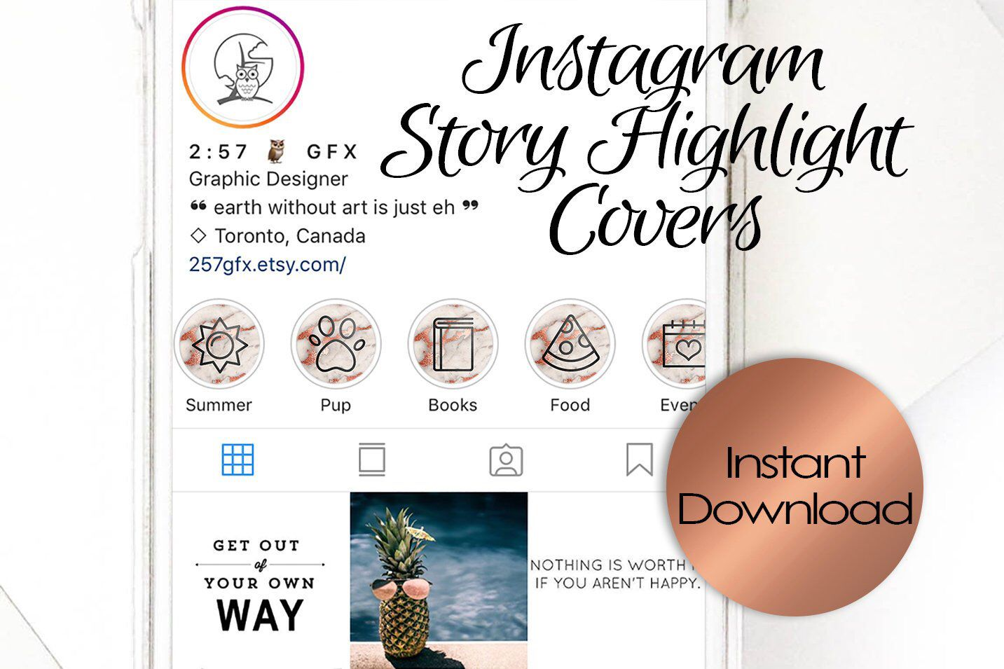 Set of 60! Instagram Story Highlight Covers / Template for