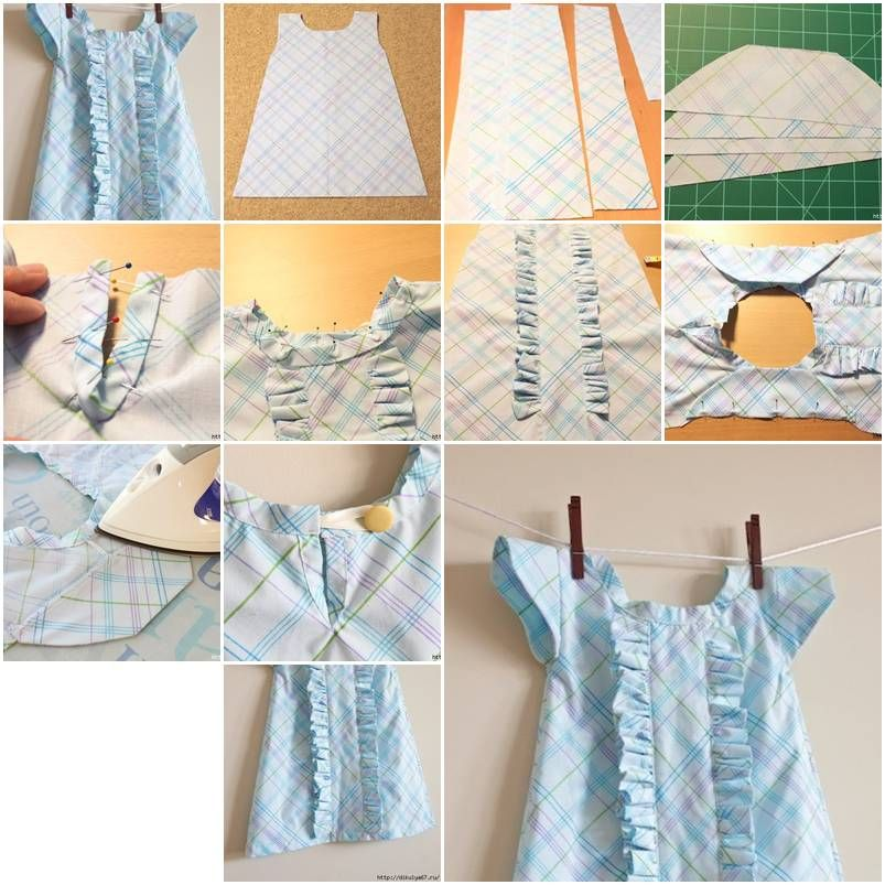 How To Sew Baby Clothes With Ruffles Step By Step Diy Tutorial