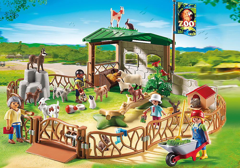 Children S Petting Zoo 6635 Zoo Animals Playmobil Pets