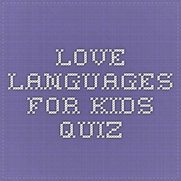 Love Languages For Kids Quiz