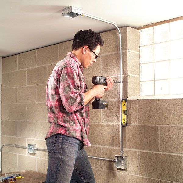 how to install surface mounted wiring and conduit metals garage