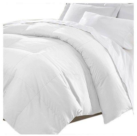 Kathy Ireland Home Microfiber White Down Comforter White Down