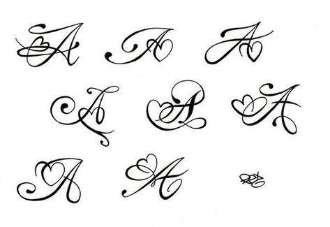 Tattoo Art Tatouage Initial Tatouage Lettre Tatouage Initiales