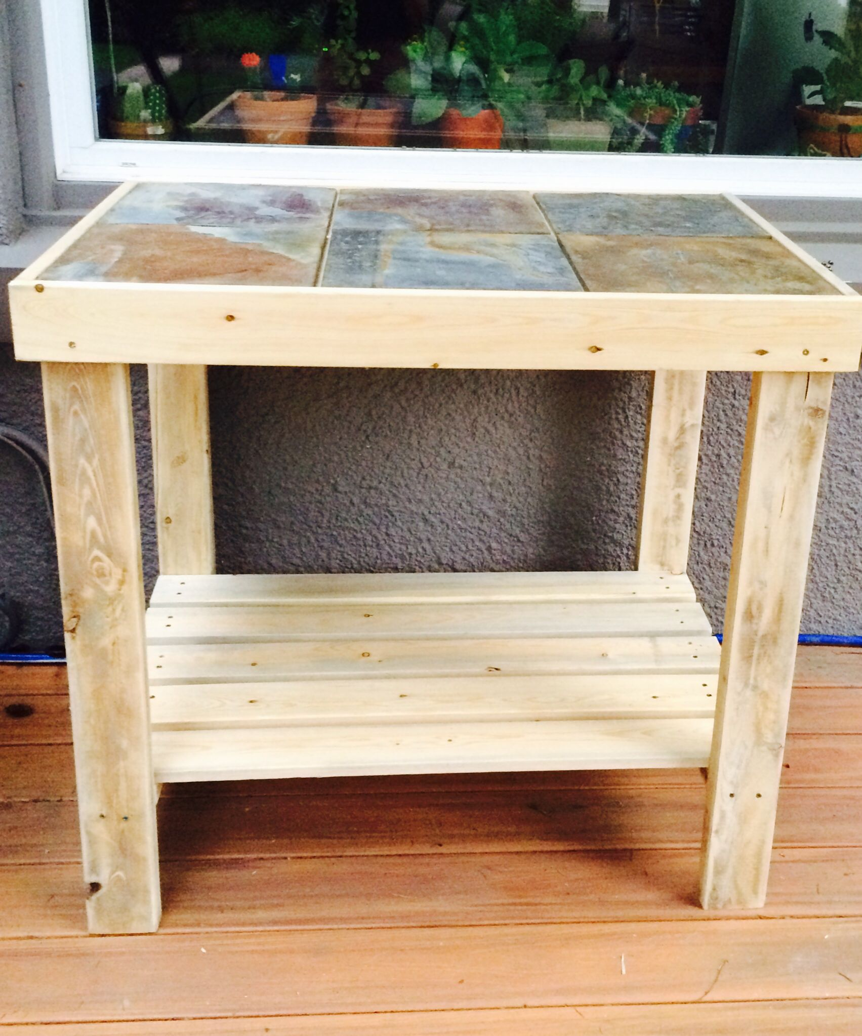 An Outdoor Side Table That Adds Extra Counter Space Next To My Bbq Constructed With