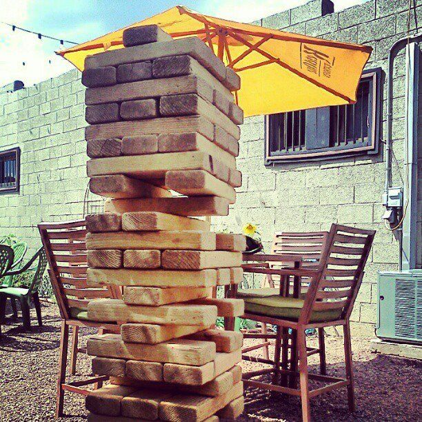 Giant Jenga. Annex's sobriety test bar game. | Outdoor ...