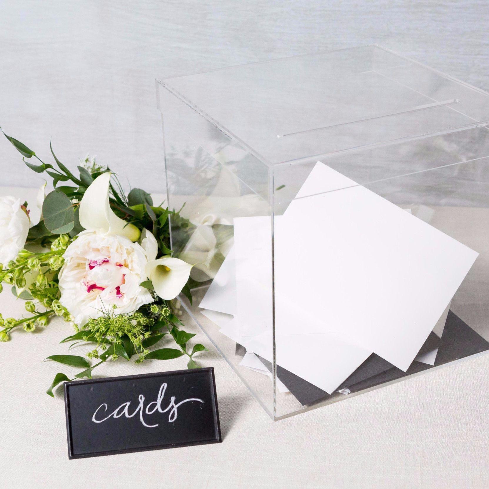 Clear Acrylic Card Box | Clear acrylic, Wedding keepsakes and ...