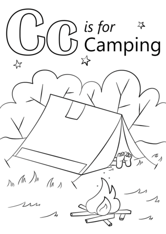 Letter C Is For Camping Coloring Page From Letter C Category Select From 27763 Printabl Preschool Coloring Pages Camping Coloring Pages Crayola Coloring Pages