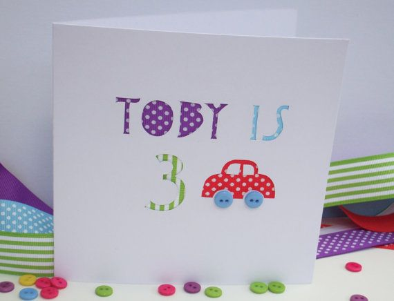 Childs Personalised Birthday Card With Their Name And Age