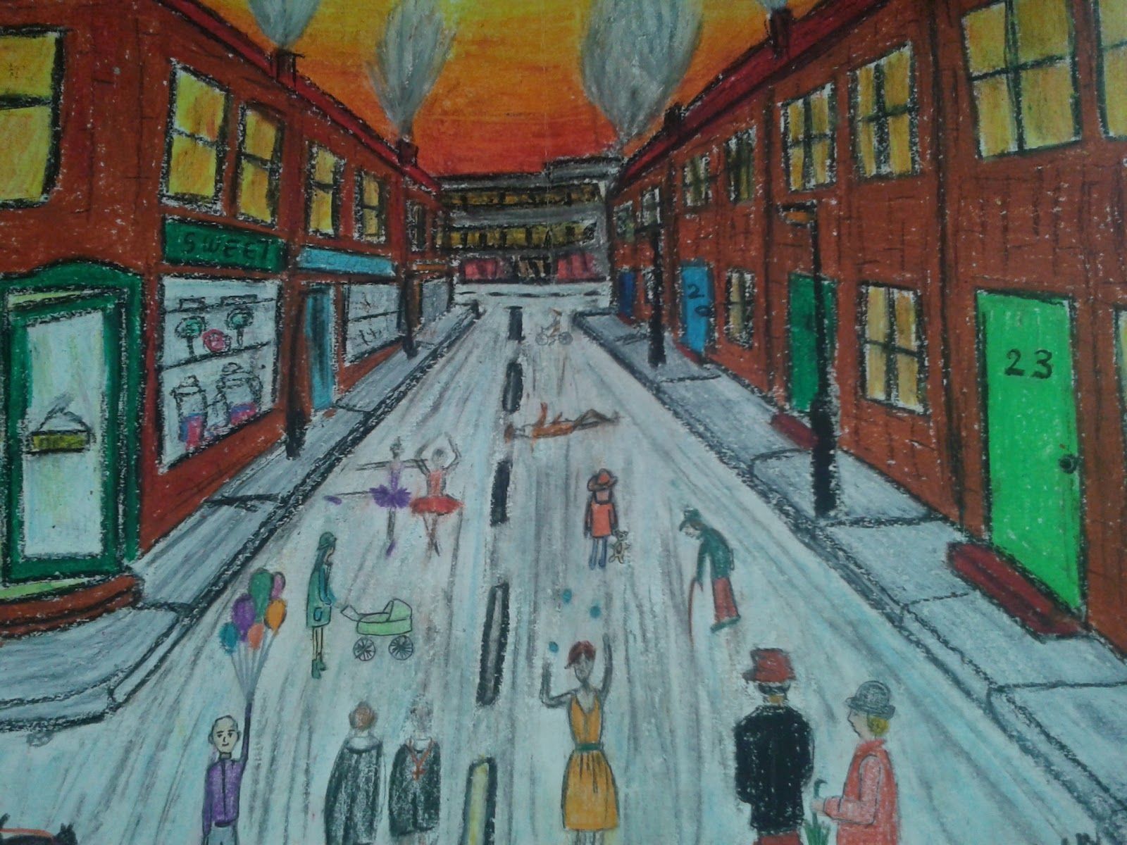 lively lowry art project for kids art for pinterest