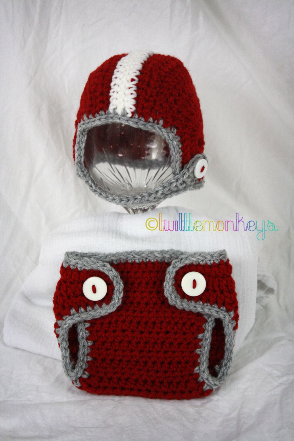 Newborn crochet football helmetdiaper cover set university of newborn crochet football helmetdiaper cover set university of alabama bama crimson bankloansurffo Choice Image