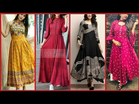 5cddf414bd6 Latest Top Stylish Long Frocks Designs For Girls 2018-2019    Part 2 -  YouTube