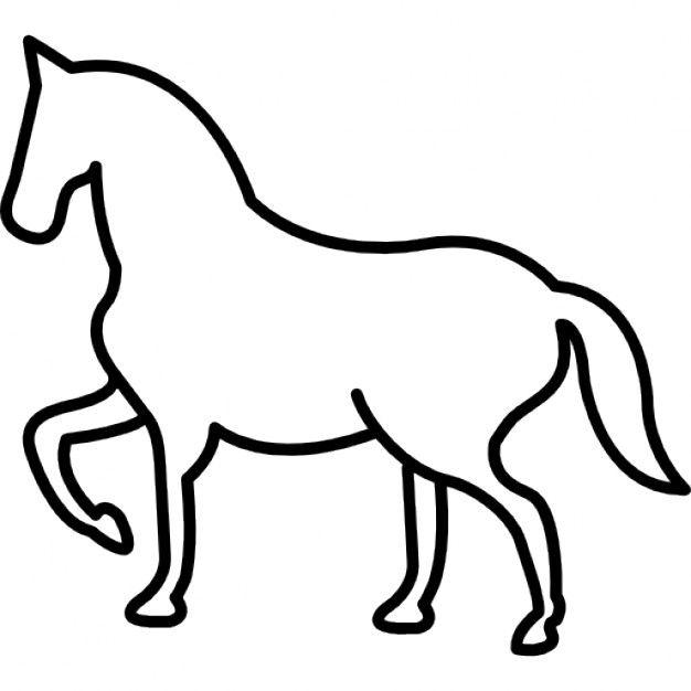 Lade Wandern Pferd Umriss Mit Einem Frontal Pfote Gehoben Kostenlos Herunter Pferd Malvorlagen Pferde Pferde Silhouette
