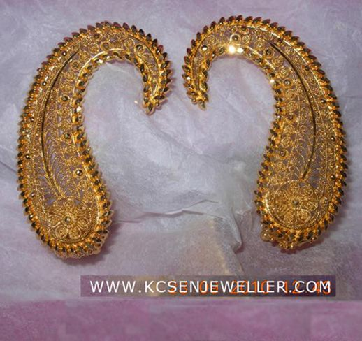 bengali traditional gold jewellery ear top design jewelry