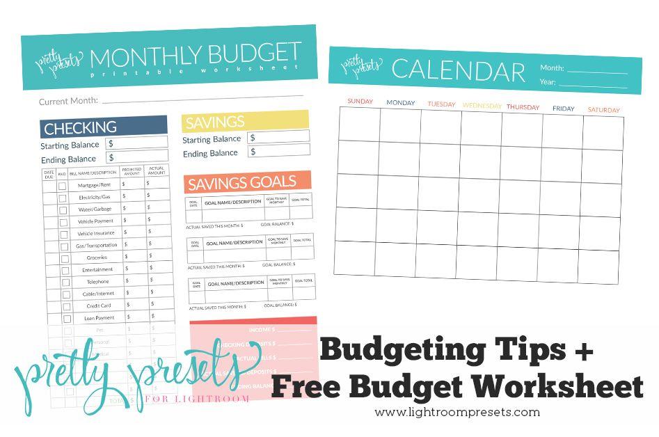 free simple budget worksheet