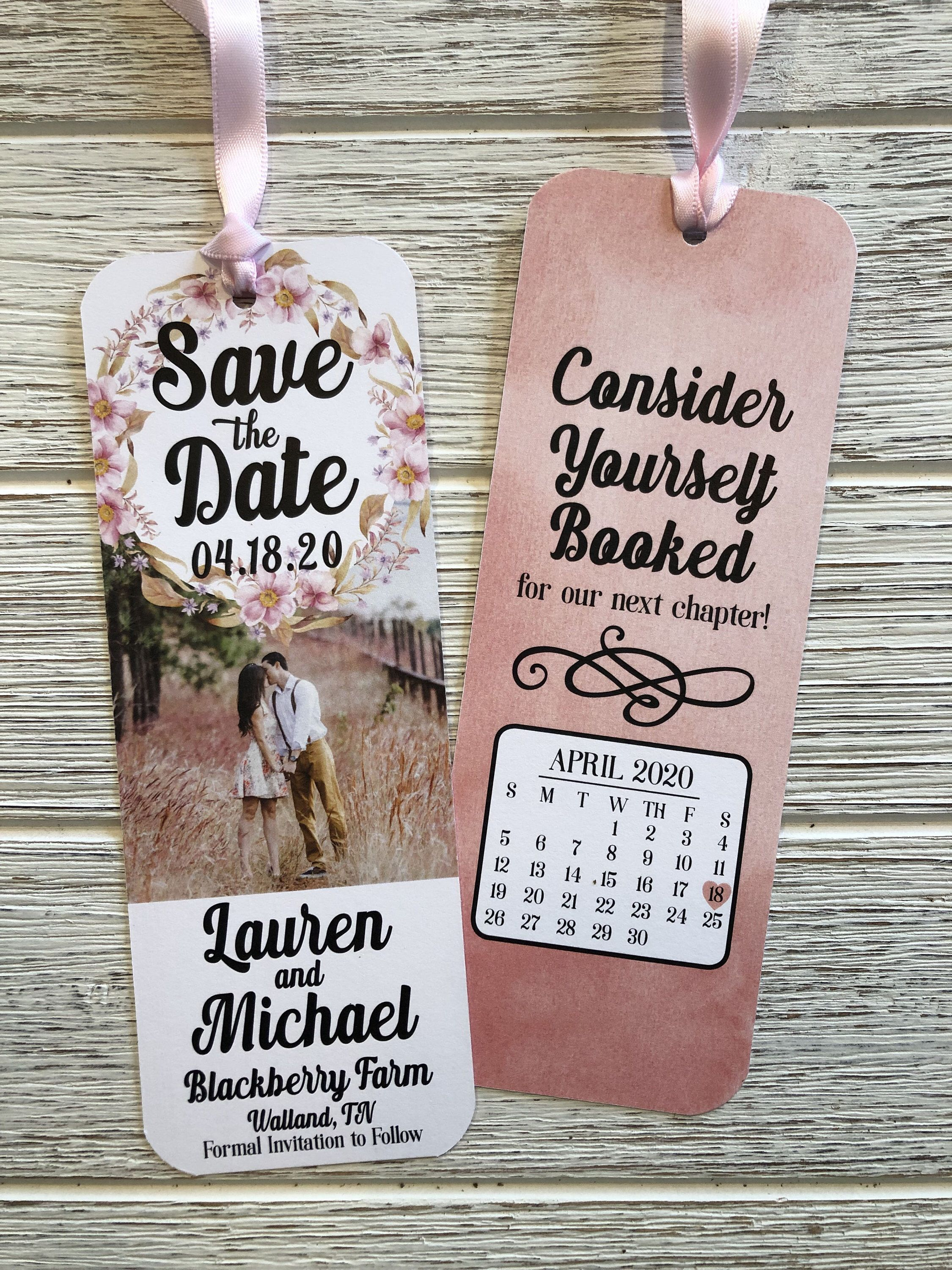 Customized Save The Date Bookmark Save The Date Bookmark Etsy Unique Save The Dates Save The Date Personalized Bookmarks Save the date bookmark template