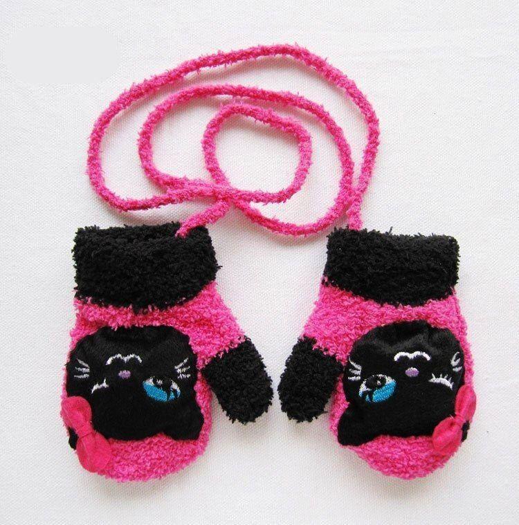 Pair Candy Cat Cute Cartoon Thicken Warm Fleece Infant Winter Gloves  1 Pair Candy Cat Cute Cartoon Thicken Warm Fleece Infant Winter Gloves 1 Pair Candy Cat Cute Cartoon...