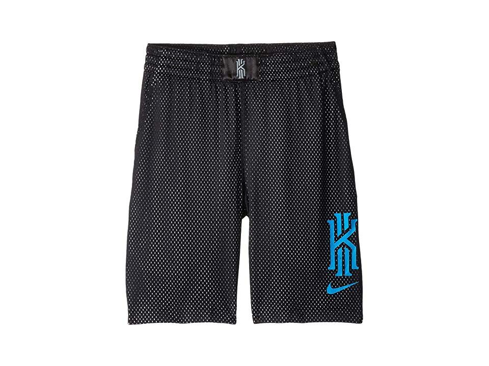 8b0843821 Nike Kids Kyrie Irving Graphic Basketball Shorts (Little Kids/Big Kids)  (Black/White/Blue Hero/Blue Hero) Boy's Shorts. Just do it like the pros!