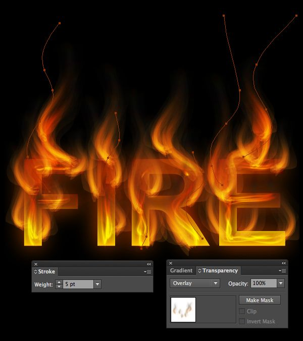 How to Create a Fire Text Effect in Illustrator | GRAPHIC