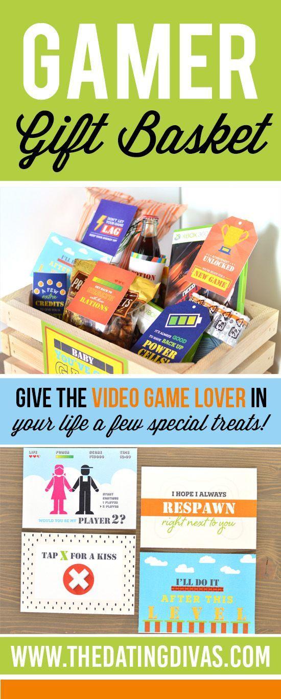 Gamer Gift Basket The Dating Divas Gamer Gifts Gifts For Gamer Boyfriend Diy Gifts For Boyfriend