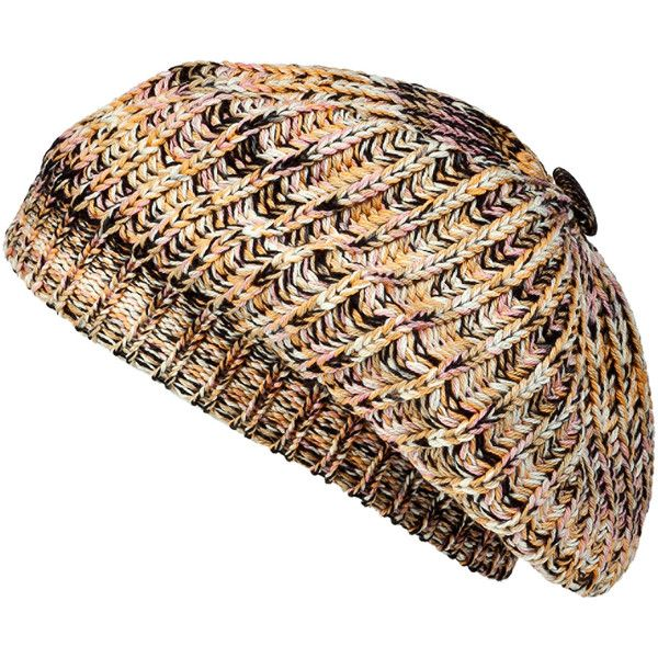 MISSONI Candy Sweet Knit Beret ($150) ❤ liked on Polyvore