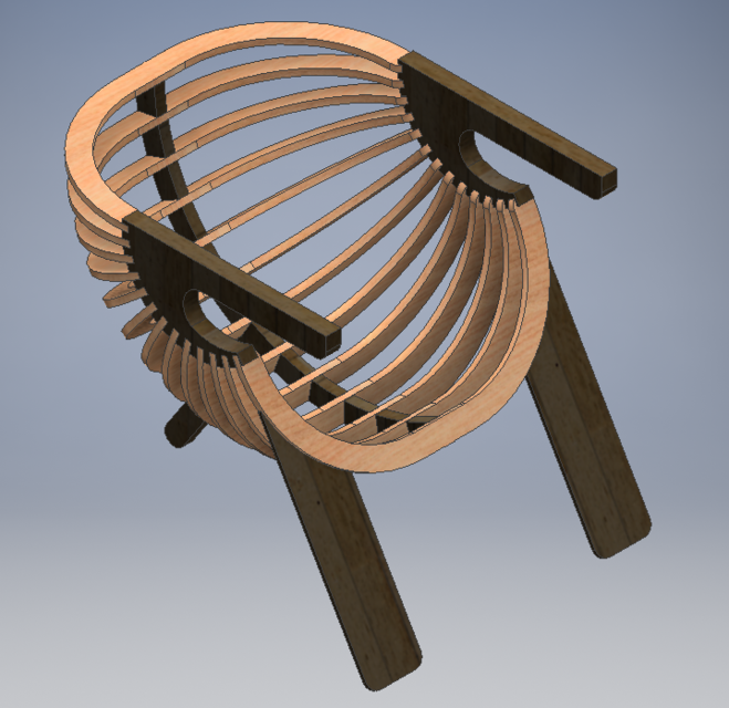 Outdoor Chair   STEP / IGES,Autodesk Inventor   3D CAD Model   GrabCAD