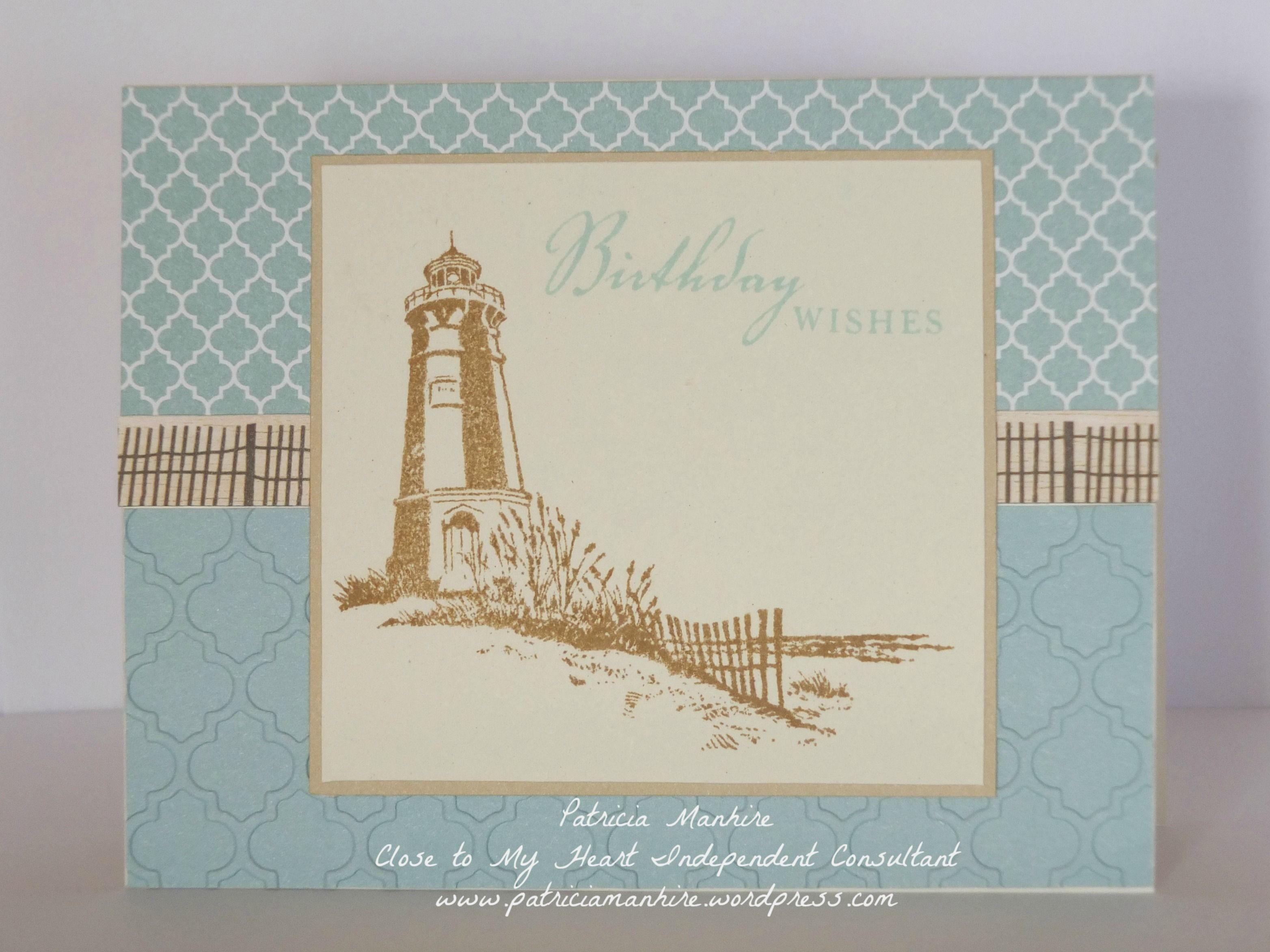 Close to my hearts seaside capers cards card ideas and heart cards ctmh seaside lighthouse card kristyandbryce Choice Image