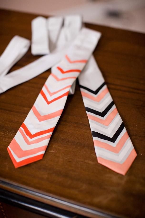 DIY father's day DIY Chevron Painted Ties DIY father's day