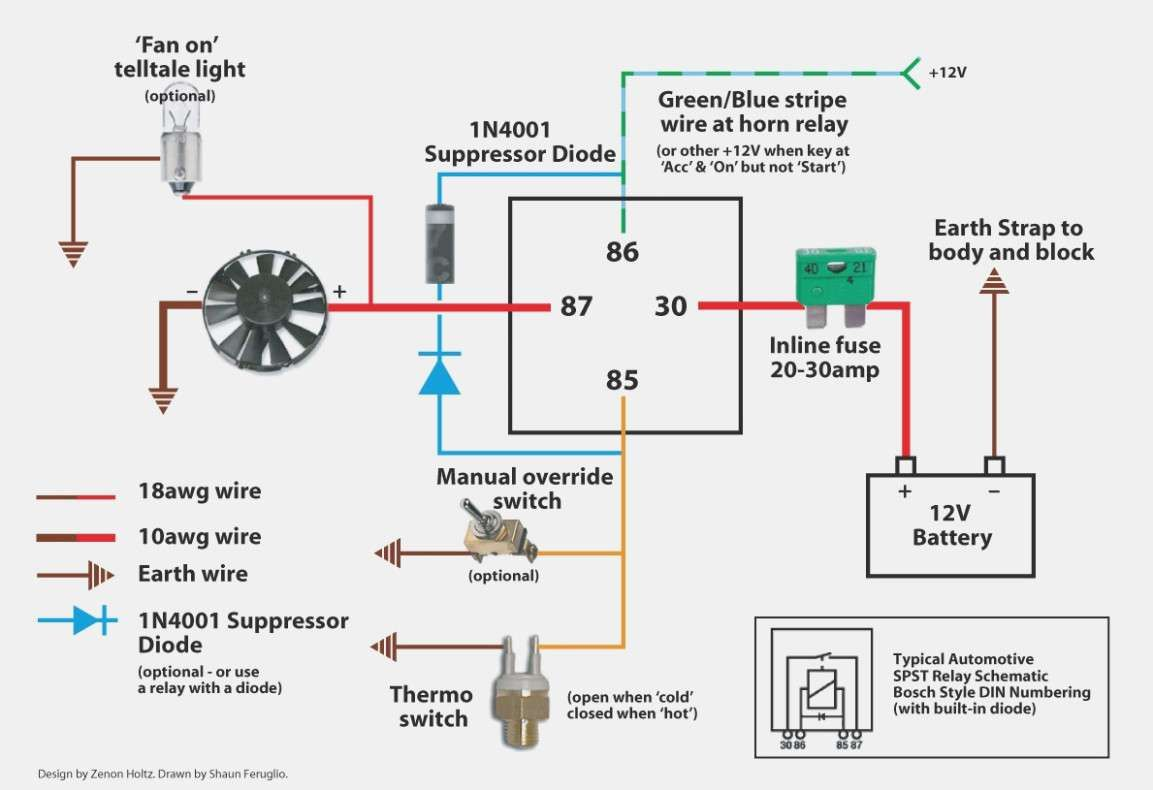 Wiring Diagram Electrical With Images Electric Radiator Fan