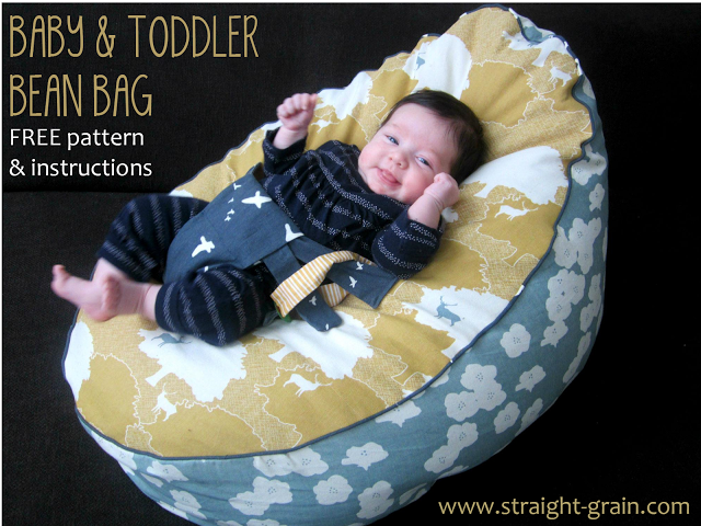 free pattern and tutorial baby and toddler bean bag. Black Bedroom Furniture Sets. Home Design Ideas
