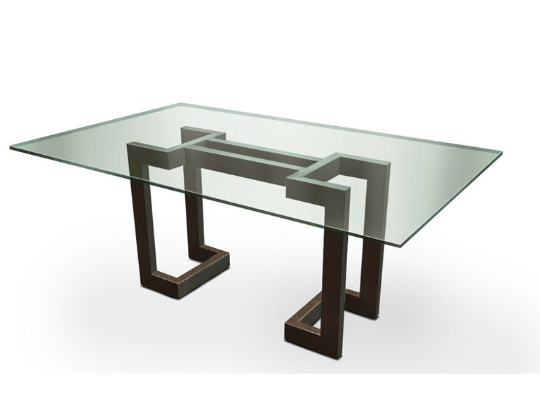 Glass dining table SENDAI   Dining table - Gonzalo De Salas ...