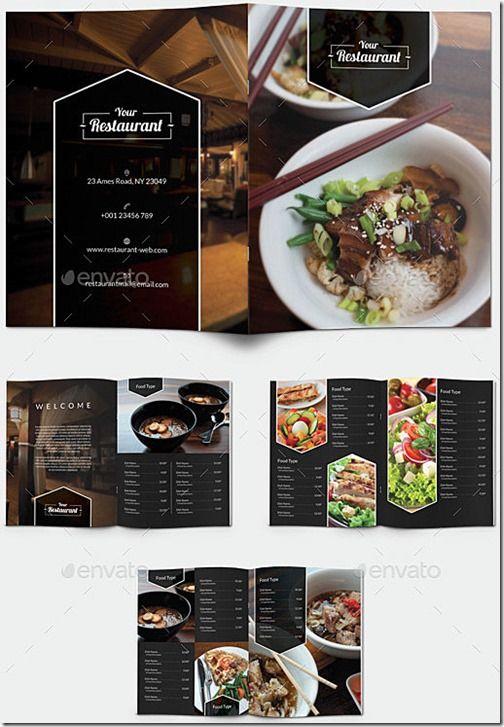 Menu Carta Restaurante Elegante Moderno 5b5
