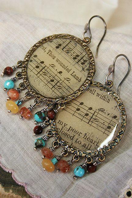 Bojangles+handmade+boho+hoop+earrings+by+mocknet+on+Etsy,+$95.00