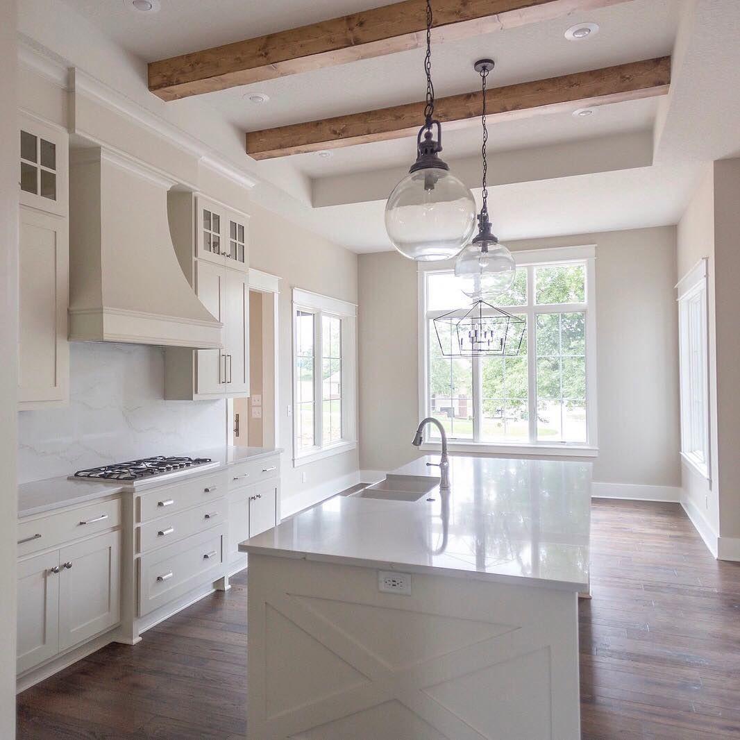 Warm White Kitchen Cabinets Cabinet Color Is Bm Ballet White Walls Sw Accessible Beige Via Beige Kitchen Warm White Kitchen Cabinets Warm White Kitchen
