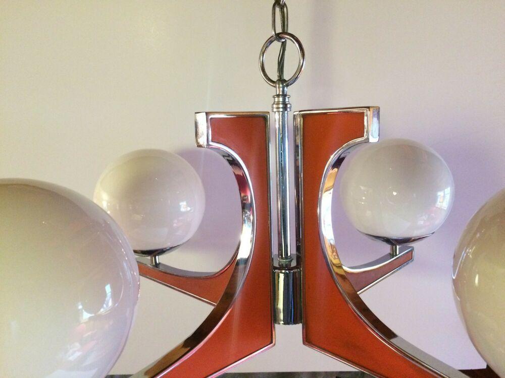 Vintage Thomas Industries Moe Light Mid Century Modern Bahaus