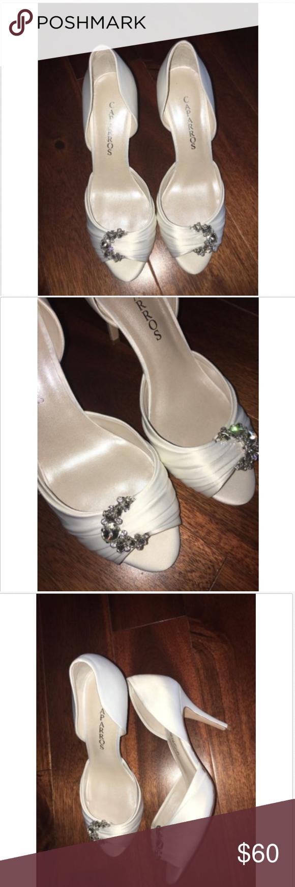 438a5a6f8bf Caparros Bridal Shoe Size 9 Peep Toe NWT Caparros Bridal Shoe Size 9 Peep  Toe Crystal